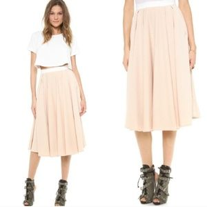 Torn by Ronny Kobo Cream Textured May Skirt